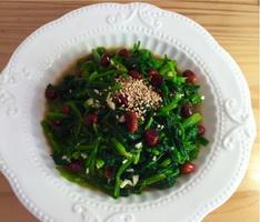 花生拌菠菜