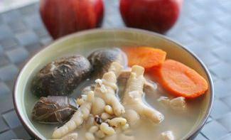 眉豆红枣冬菇汤做法3