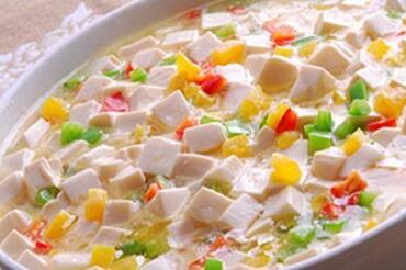 玉米豆腐鸡蛋羹