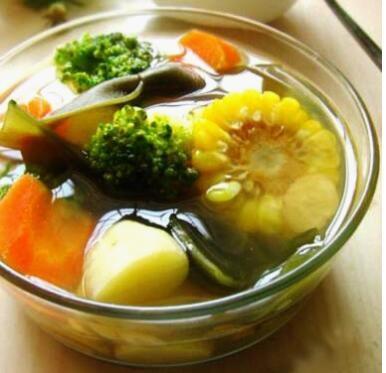 黄芪海带花椰汤