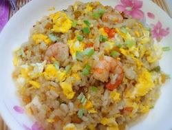 南瓜鲜虾炒饭