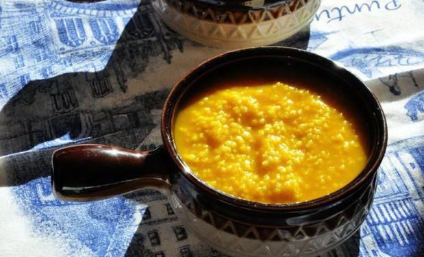 南瓜小米粥做法2