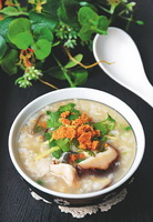 香菇鱼片粥